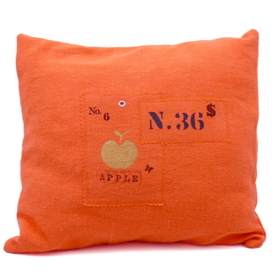 housse de coussin verger lin orange tu lili oscar. Black Bedroom Furniture Sets. Home Design Ideas